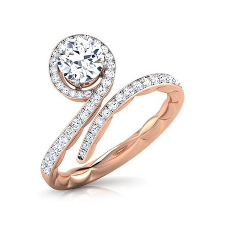Swirl Twist Solitaire Ring