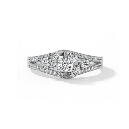 Glitter Twirl Solitaire Ring