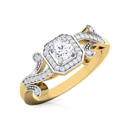 Joana Scroll Solitaire Ring