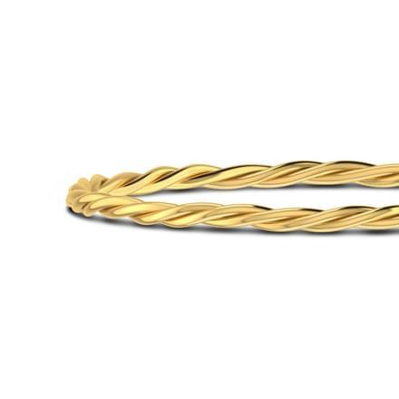 Gold Twist Bangle