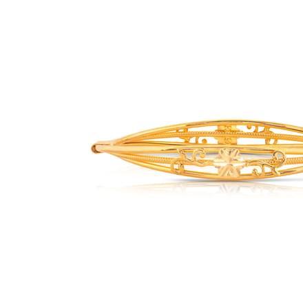 Hiza Floral Gold Bangle