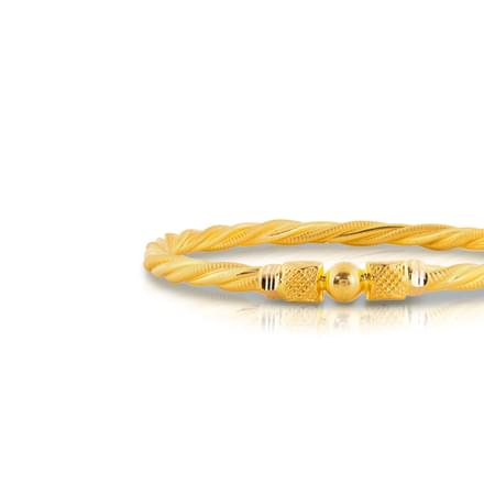 Aseey Beaded Gold Bangle