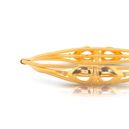 Bela Leaf Gold Bangle