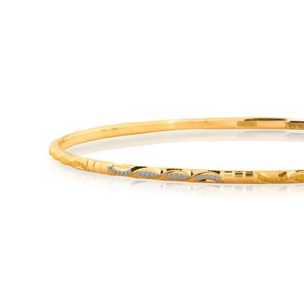 Ila Textured Gold Bangle