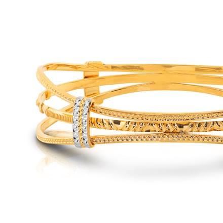 Kiva Layered  Gold Bangle