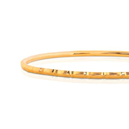 Binal Textured Gold Bangle