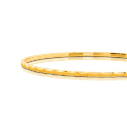 Kiara Spiral Gold Bangle