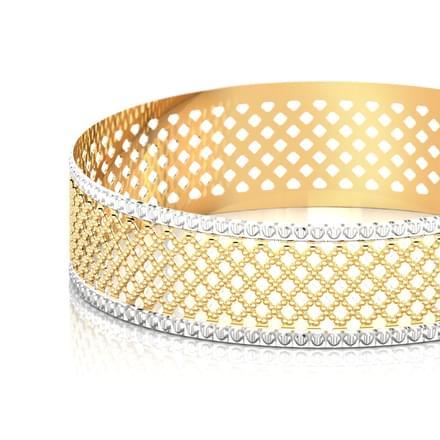 Mesh gold bangle