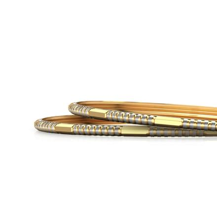 Notch Gold Bangle Set of 2