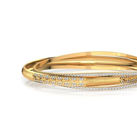 Deco Pattern Gold Bangle