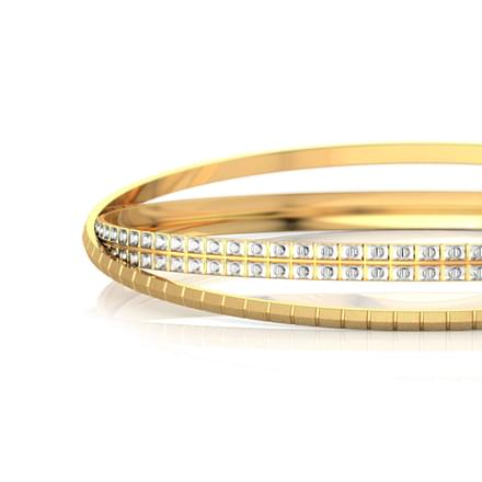 Crossover Texture Gold Bangle