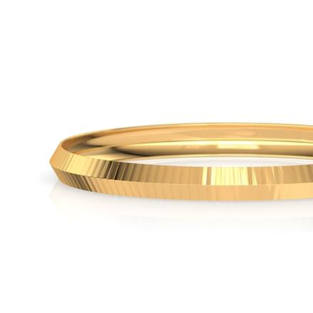 Edgy Stripes Gold Bangle