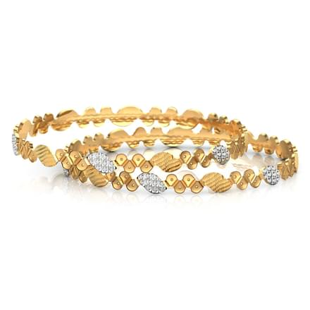 Deco design gold bangle of 2