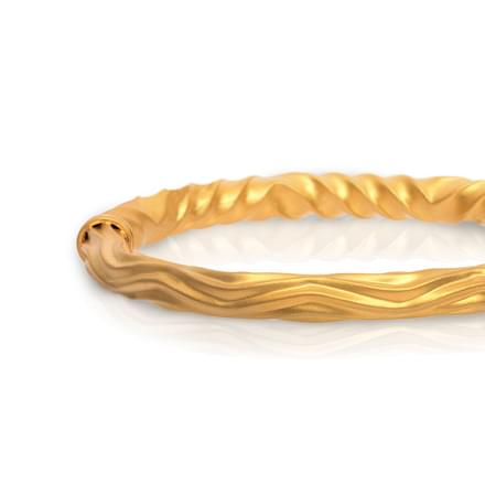 Twisty Curl Gold Bangle