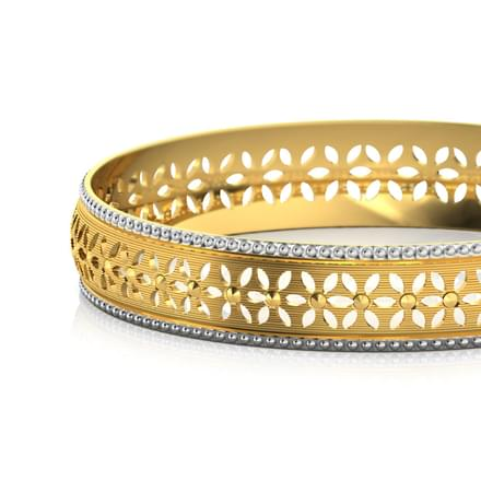 Petals Cutout Gold Bangle