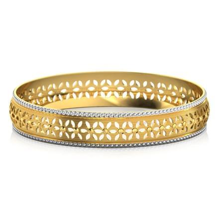 Petals cutout gold bangle