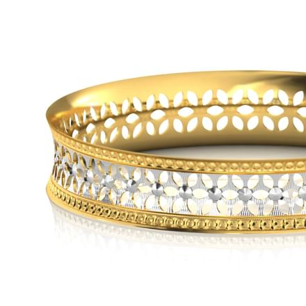 Floret Cutout Gold Bangle