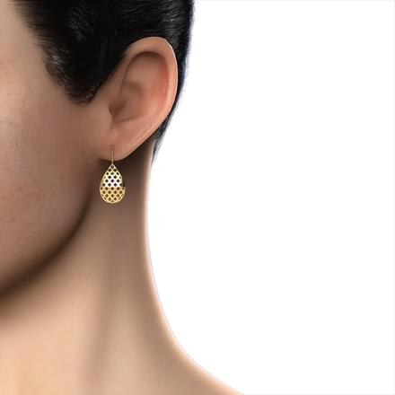 Elyse Cutout Drop Earrings