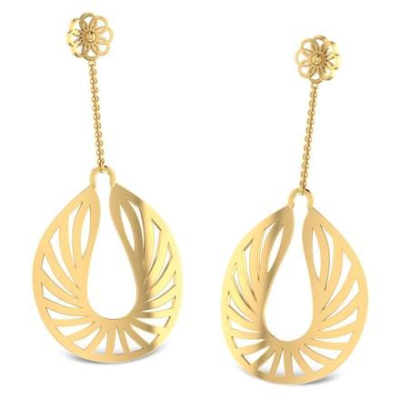 Flaming Drop Earrings