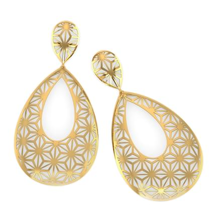 Paige Star Cutout Drop Earrings Jewellery India line CaratLane