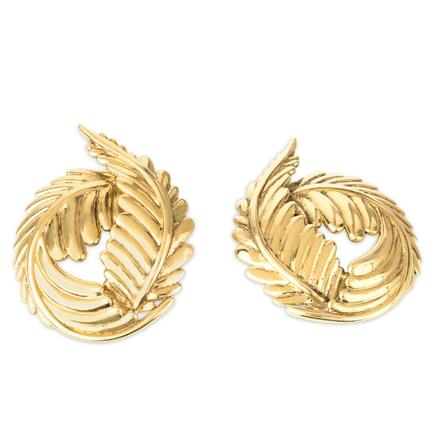 Mahua Leaf Stud Earrings