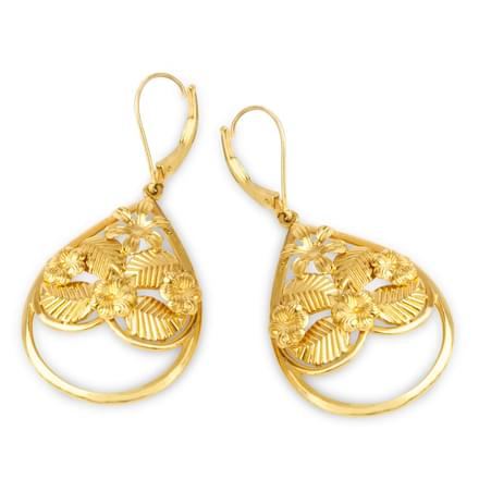Amur Leaf Drop Earrings
