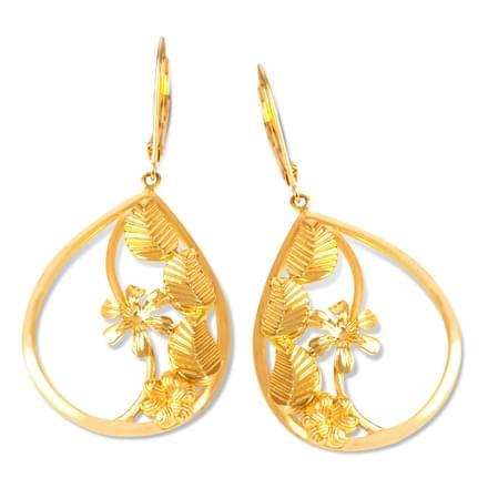 Ceyla Leaf Drop Earrings