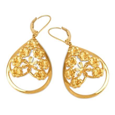 Halisia Leaf Drop Earrings
