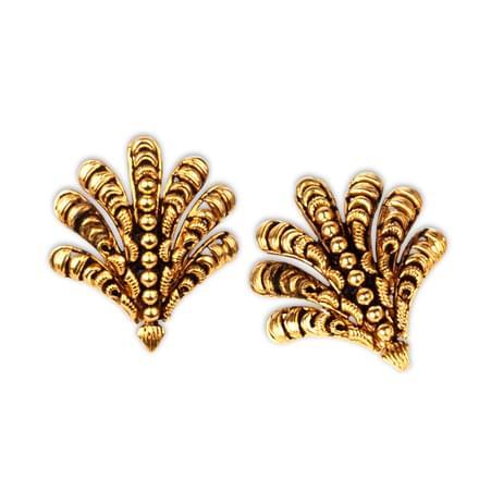 Oro Patterned Stud Earrings