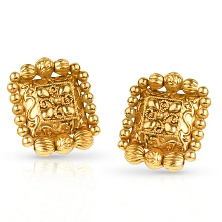 Kim Granulated Stud Earrings