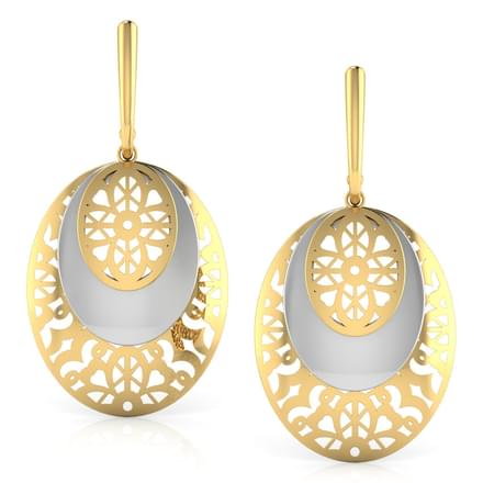 Claire Round Veneer Drop Earrings