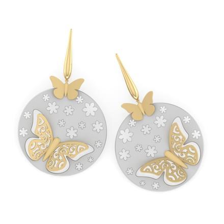 Faye Lifted Butterfly Earrings