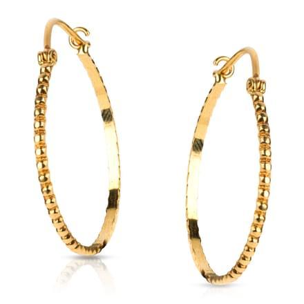 Fania Beaded Hoop Earrings