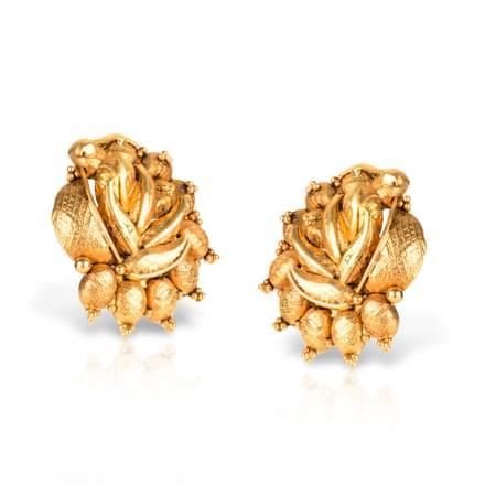 Arrosa Beaded Stud Earrings