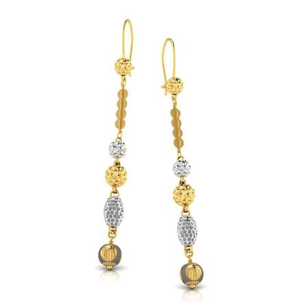 Golden Bubble Drop Earrings