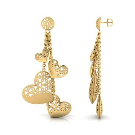 Hana Heart Bundle Drop Earrings