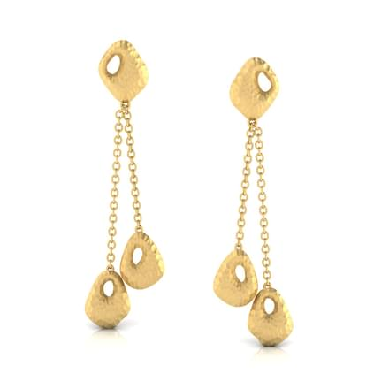 Keeva Hammered Drop Earrings
