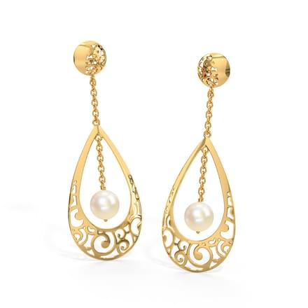 gold amazon backs post dp nuts yellow ear deluxe earring ca