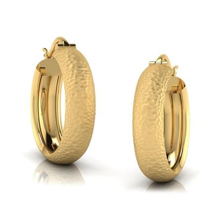Creda Hammered Hoop Earrings