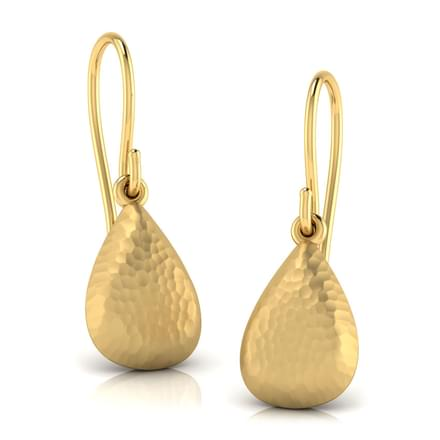Kasen Hammered Drop Earrings