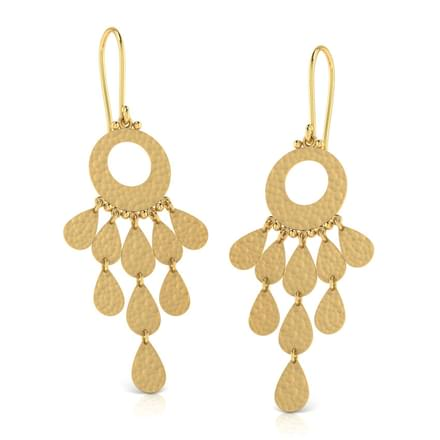 Aubrey Hammered Drop Earrings
