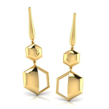 Ansley Geometric Drop Earrings