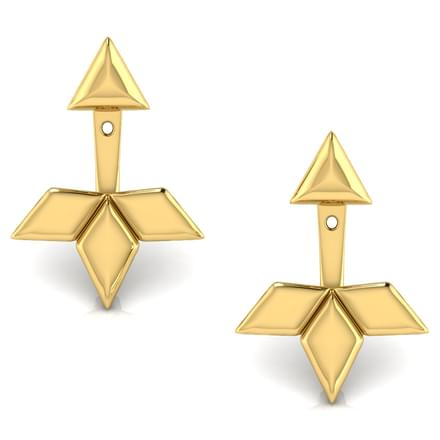 Melba Geometric Ear Jacket Earrings