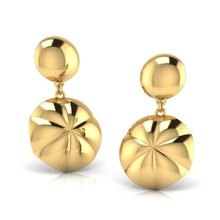 Shel Geometric Drop Earrings