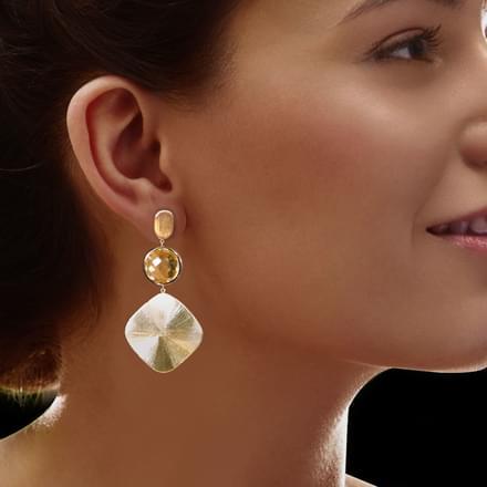 Sayen Stamped Drop Earrings