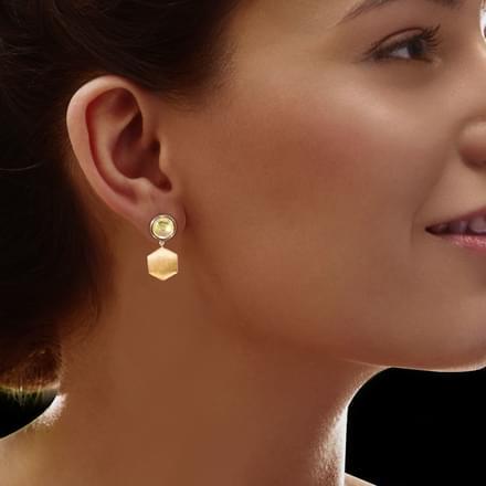 Elaina Stamped Drop Earrings