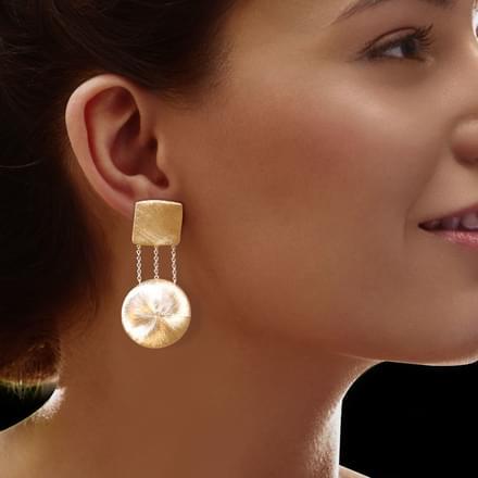 Akira Stamped Drop Earrings