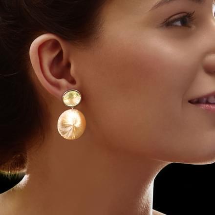 Darby Stamped Drop Earrings