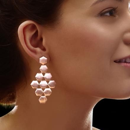 Stacy Stamped Drop Earrings