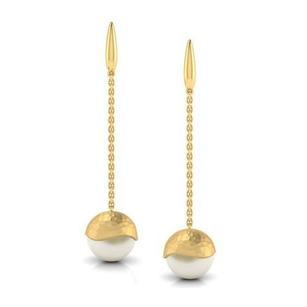 Jane Hammered Drop Earrings